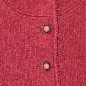 Lands' End Wool Dress Jacket; Decorative Buttons